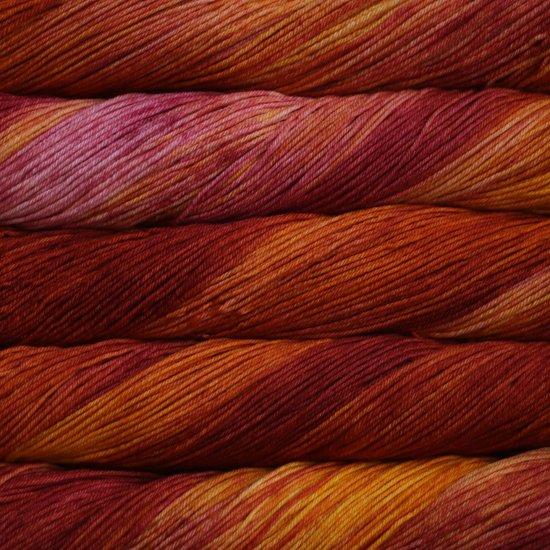 Malabrigo Wolle der Sorte Arroyo in der Farbe Flama