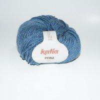 Katia Wolle der Sorte Peru in der Farbe Mittelblau
