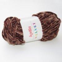 Katia Wolle der Sorte Velvet in der Farbe Braun