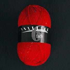 Zitron Wolle der Sorte Trekking in der Farbe hellrot