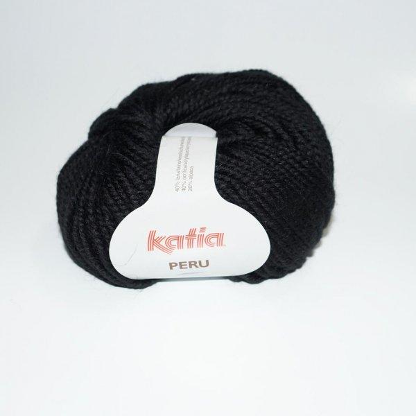 Katia Wolle der Sorte Peru in der Farbe Schwarz