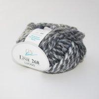 ONline Wolle der Sorte Linie 268 Lucido in der Farbe Schwarz-Grau