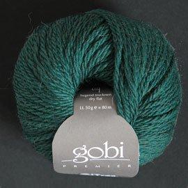 Zitron Wolle der Sorte Gobi in der Farbe smaragdgruen