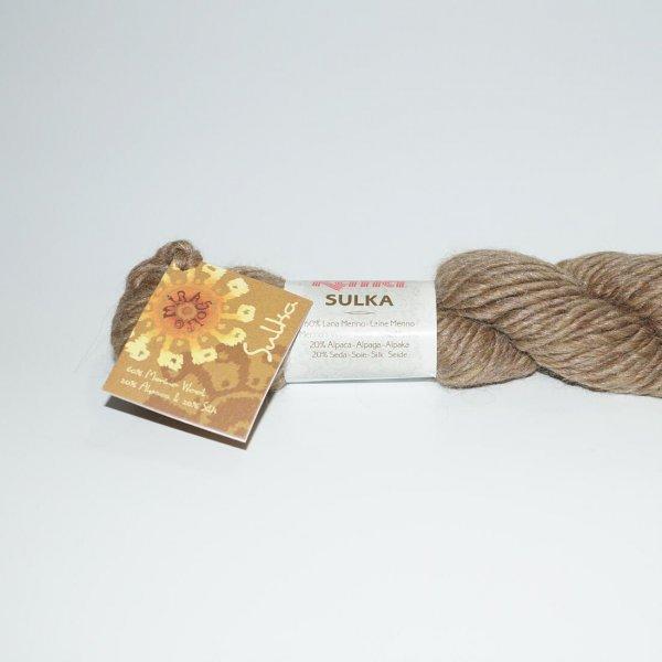 Katia Wolle der Sorte Sulka in der Farbe Mittelbraun