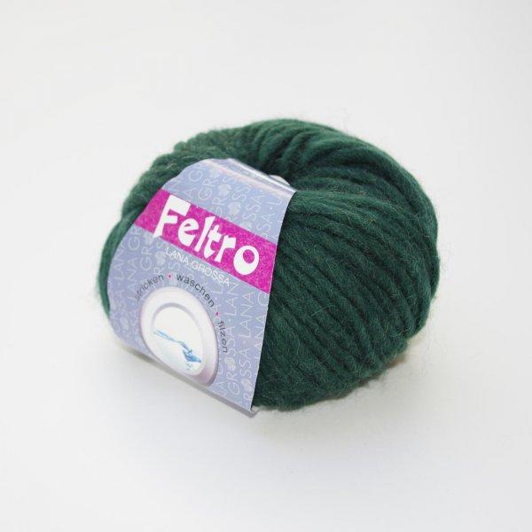 Lana Grossa Wolle der Sorte Feltro in der Farbe Moosgrün