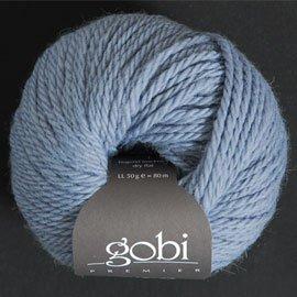 Zitron Wolle der Sorte Gobi in der Farbe hellblau