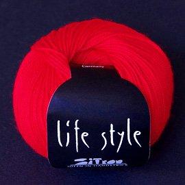 Zitron Wolle der Sorte Lifestyle in der Farbe mittelrot