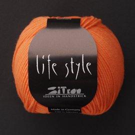 Zitron Wolle der Sorte Lifestyle in der Farbe orangerot