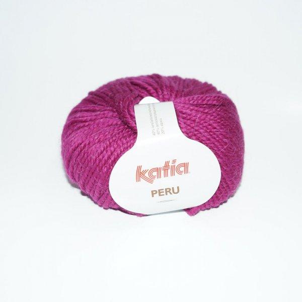 Katia Wolle der Sorte Peru in der Farbe Dunkelpink