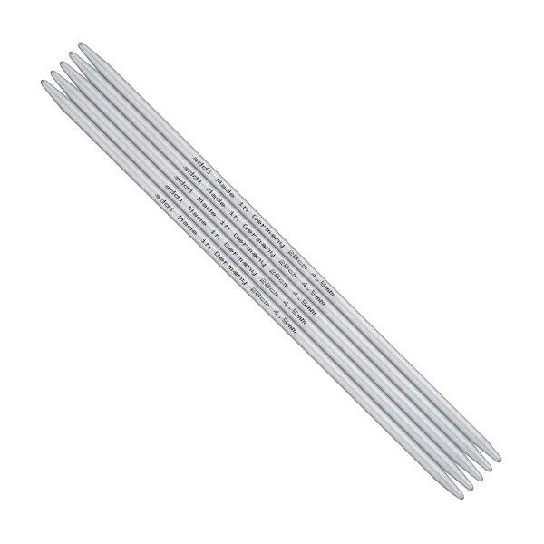 Addi Stricknadel Strumpfstricknadel 20 cm) aus Aluminium