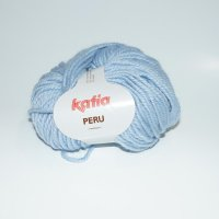 Katia Wolle der Sorte Peru in der Farbe Hellblau