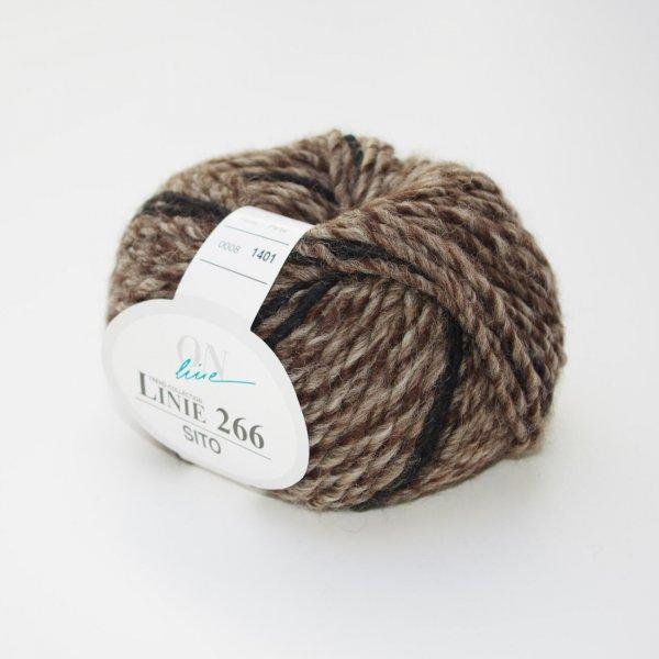 ONline Wolle der Sorte Linie 266 Sito in der Farbe Braun-Schwarz