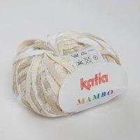 Katia Wolle der Sorte Mambo in der Farbe Weiß-Hellbraun
