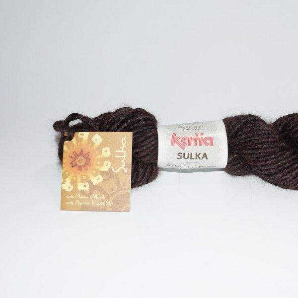 Katia Wolle der Sorte Sulka in der Farbe Dunkelbraun