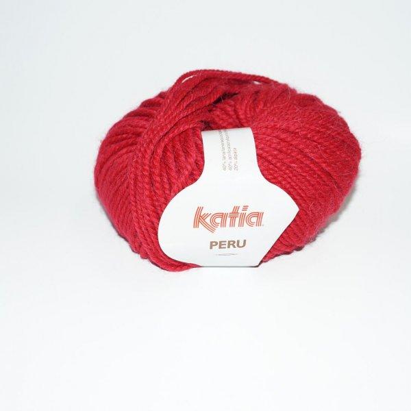 Katia Wolle der Sorte Peru in der Farbe Kirschrot