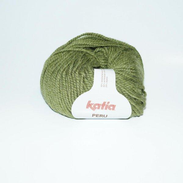Katia Wolle der Sorte Peru in der Farbe Mittelgruen