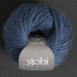 Zitron Wolle der Sorte Gobi in der Farbe mittelblau