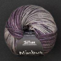 Zitron Wolle der Sorte Nimbus in der Farbe lila-grau