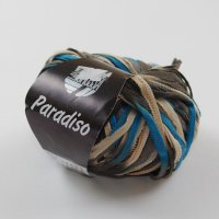 Lana Grossa Wolle der Sorte Paradiso in der Farbe Blau-Braun
