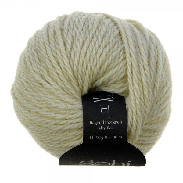 Zitron Wolle der Sorte Gobi in der Farbe Cremeweiß (28)