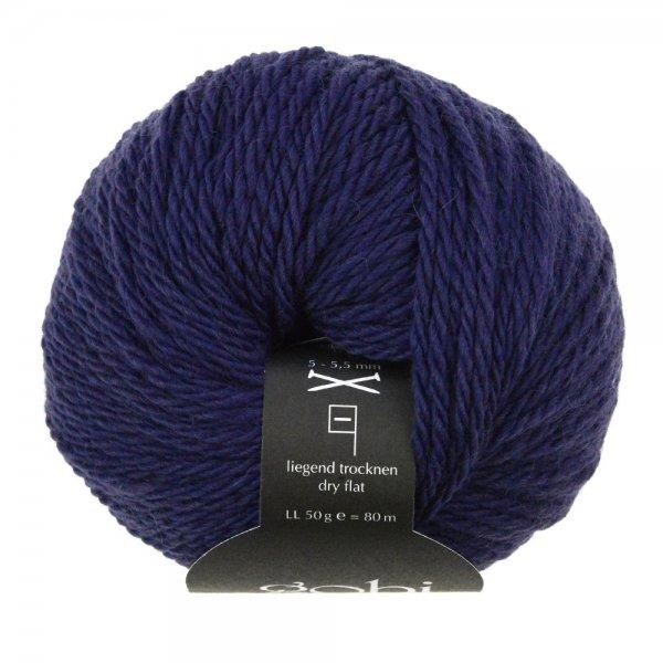 Zitron Wolle der Sorte Gobi in der Farbe Indigo (31)