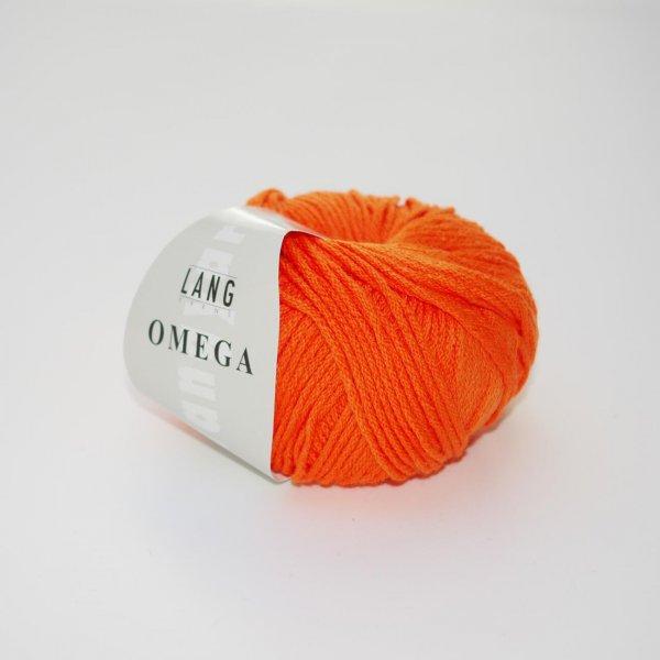 Lang Yarns Wolle der Sorte Omega in der Farbe Neon-Orange