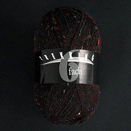 Zitron Wolle der Sorte Trekking in der Farbe dunkelbraun