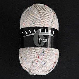 Zitron Wolle der Sorte Trekking in der Farbe weiss